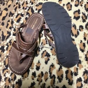 comfort plus Shoes - Bold Brown Sandals 11W